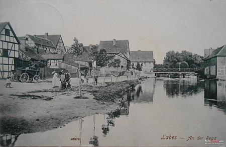 Rodná Łobez v Polsku na pohlednici z počátku 20. století