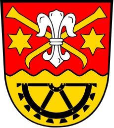 Znak bavorské obce Uttenreuth, na jejímž hřbitově je uložena urna s jeho popelem
