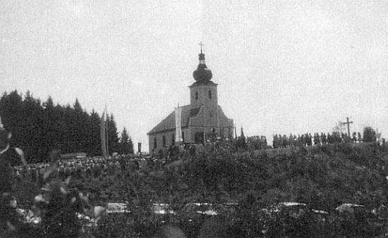 Velká pouť 15. srpna 1989 k Panně Marii Sněžné na Hiltschnerberg