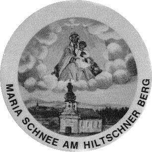 """Panna Maria Sněžná na Hiltschnerberg na vyobrazení z dob, kdy Svatý Kámen pustl za """"železnou oponou"""""""