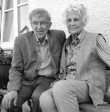 Se svou ženou Ruth, která zemřela v prosinci roku 2018
