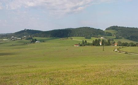 Pohled přes Větrnou na Ostrov a Turmberg dnes (2009)