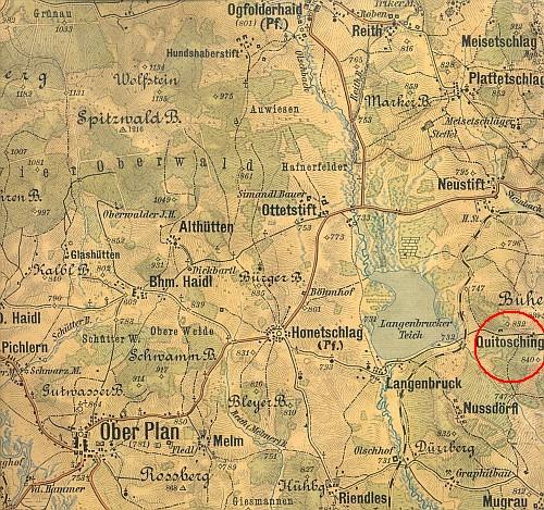 Na Českokrumlovsku byly dvě osady jménem Quitosching