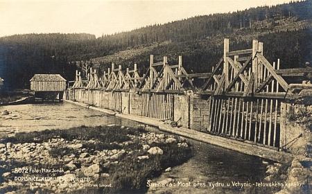Vchynicko-tetovský kanál na starých pohlednicích