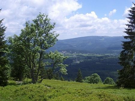 Zelená Hora dnes s výhledem na Srní