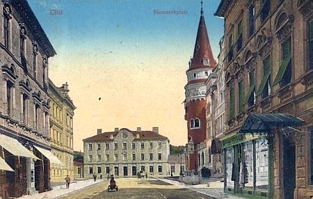 Stará pohlednice z rodného Celje