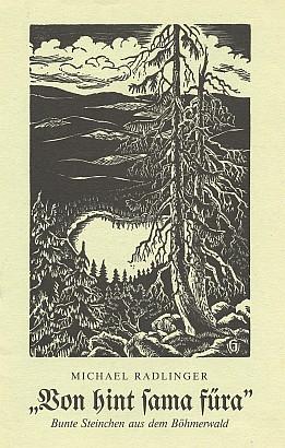 Obálka (1985) s dřevorytem Waltera Grössla (nakladatelství Hoam!, Waldkirchen)