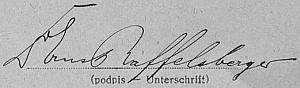 Podpis z archu sčítání lidu z téhož roku