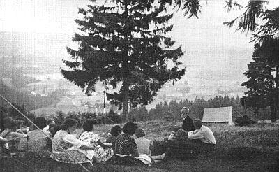 Roku 1953 na besedě v letním táboře Böhmerwaldjugend