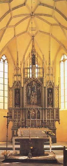 Hlavní oltář kostela sv. Jiljí v Dolním Dvořišti nadalší z jeho fotografií