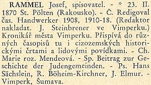 Jako jeden z mála šumavských německých autorů má heslo ivI.ročníku Kulturního adresáře ČSR