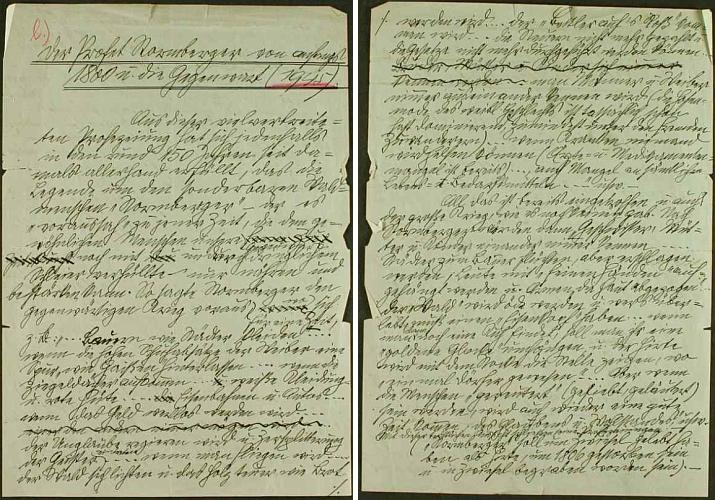 """Stranou 665 jeho zápisy v pamětní knize města končí: závěrem vlepil na další dvě strany (666 a další) šumavské proroctví """"Stormbergerovo"""", známější jako """"Mühlhiaslovo"""", z počátku 19. století, které se 1945 hrůzně vyplnilo (""""Stormberger"""" měl žít někde kolem Zwieselu a ve Zwieselu měl být někdy kolem roku 1806 i pohřben)"""
