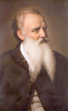 Jan Zachariáš Quast (1814-1891) - obraz Autoportrét hledící doprava (1889) je zřejmě malován podle fotografie