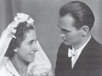 Jeho svatební foto z roku 1950