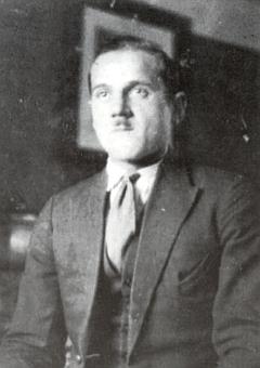 Jeho otec Leo Randak v době, kdy pracoval jako šofér i kvildské Strunzovy pily