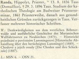 Jeho heslo v Biografickém lexikonu pro dějiny českých zemí