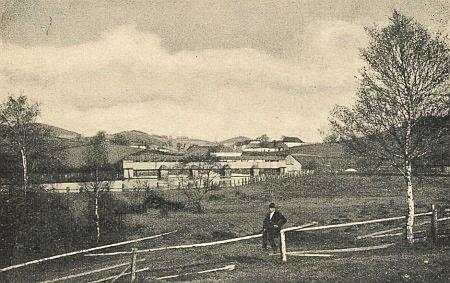 """Někdejší """"rechle"""" na Vltavě blízko vsi Hory..."""