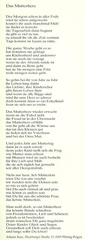 Svou báseň mamince doprovodil roku 1984 udáním své adresy