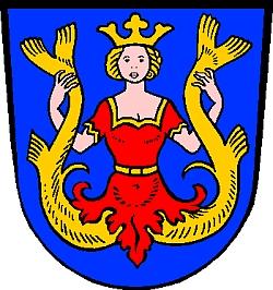 Znak bavorského městyse Isen, kde po válce žil a zemřel