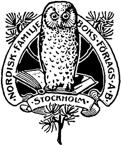 Logo druhého vydání švédského lexikonu Nordisk familjebok, v němž seobjevilo i heslo o něm