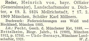 Jeho heslo v německém slovníku výtvarných umělců