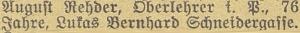 Tady je v oznámení o úmrtí v místním tisku uvedena i jeho českobudějovická adresa