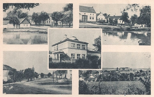 Stará pohlednice z rodných Honezovic