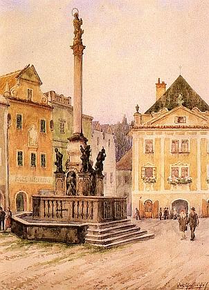 Dva Fischerovy obrazy z Českého Krumlova