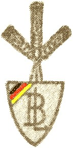 Znak Bund der Landwirte s trojicí klasů abarevnou trikolórou