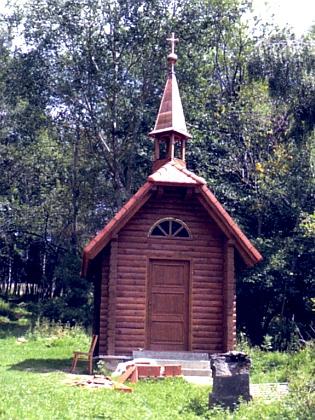 Nová kaple v Milešicích na snímku z roku 2018