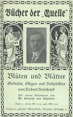 Obálka (1912) jeho knihy vydané v Hamburku nakladatelstvím Georg Grote