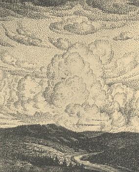 Studie oblak na perokresbě malíře Williho Herziga