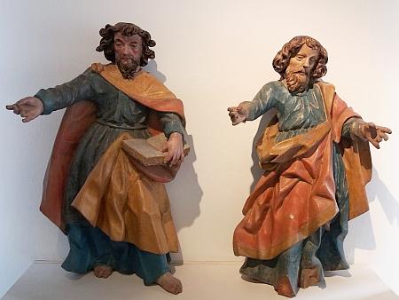 Svatí apoštolové Petr a Pavel z Vyšného (kolem roku 1700), dnes ve sbírkách českokrumlovského muzea
