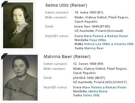 Jeho dcery Selma (*1883) a Malvína(*1888) zahynuly obě v Osvětimi