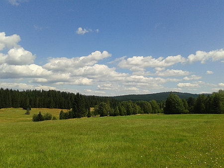Pohled od Haidmühle k Novému Údolí