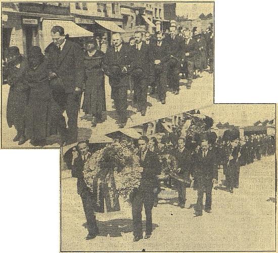 Impozantní pohřeb vydavatele mj. měsíčníku Waldheimat v Českých Budějovicích, který jej přežil jen o rok