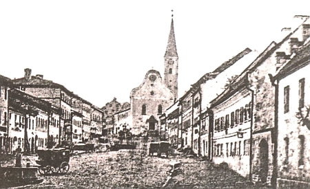 Zwiesel na historické fotografii