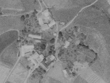 Zvěřenice na leteckých snímcích z let 1952 a 2008
