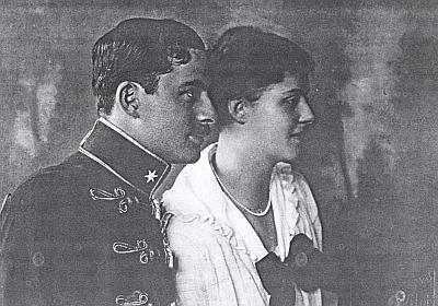 Mladý hrabě Revertera se svou ženou na fotografii c.k. dvorního fotografa Wildera z Českých Budějovic