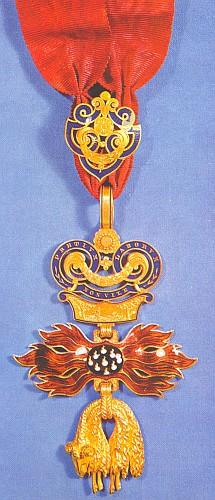 Nákrční dekorace Řádu zlatého rouna