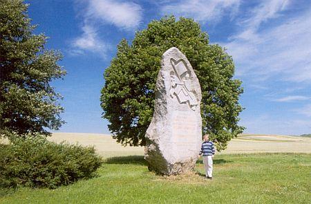 Památník na bojišti, kde 26. srpna 1278 král padl
