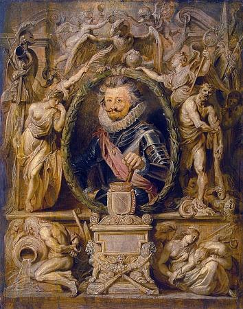 Takto zpodobil Karla Bonaventuru Buquoye slavný vlámský malíř Peter Paul Rubens (1577-1640)