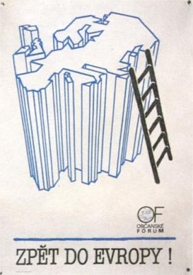 Plakát Občanského fóra z listopadu 1989