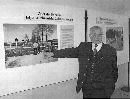 Při zahájení své výstavy v Západočeském muzeu v Plzi roku2008