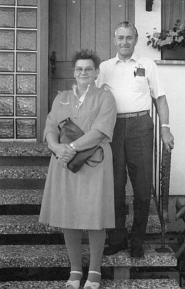 Se svou ženou Gerdou, roz. Brücknerovou z Ostrova nad Ohří