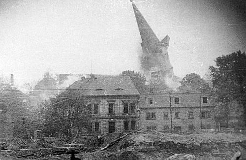 Odstřel kostela v Ledvicích