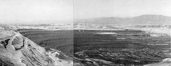 Na dně tohoto hnědouhelného kráteru stály kdysi rodné Ledvice