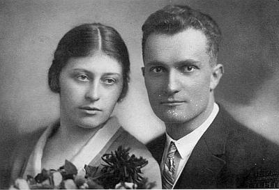 Svatba rodičů v únoru 1928