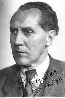 Eduard Winter, čelný představitel sdružení Staffelstein od roku 1920, zde na snímku s datací svého působení v hodnosti rektora univerzity v Halle (sovětská zóna Německa)