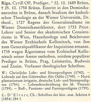 Heslo v biografickém lexikonu pro dějiny českých zemí (sešit z roku 1991) uvádí i jeho kazatelské působení vČeských Budějovicích